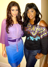 Connecticut Makeup Artist and Sephora Beauty Coordinator Brandy Gomez-Duplessis with Kim Kardashian in New Orleans