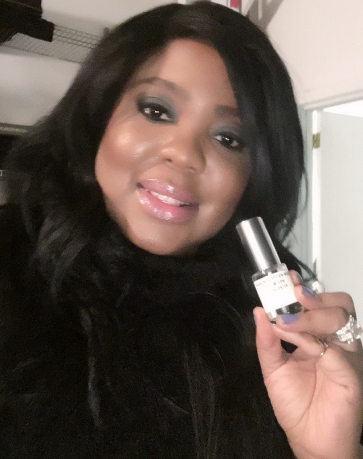 L'OREAL Paris Pro Makeup Artist Brandy Gomez-Duplessis on set with RalphLauren Fragrances video shoot