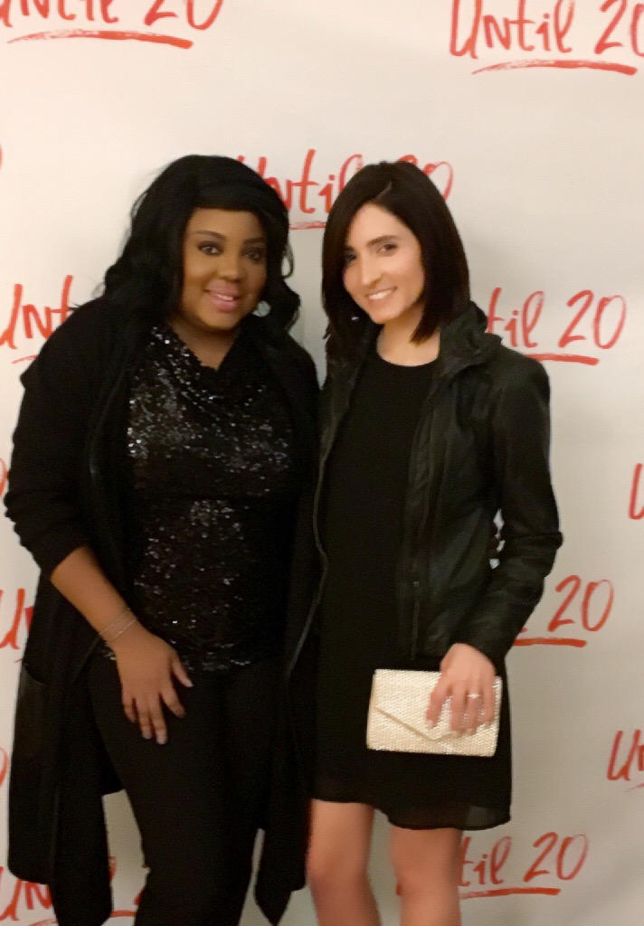 Brandy and Mia at Until 20 Movie Screening