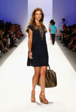 Alysia Reiner on the runway at Mercedes Benz Fashion Week